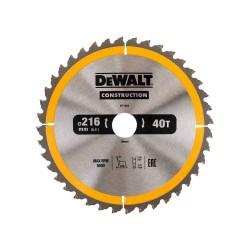 Panza de ferastrau circular Dewalt CONSTRUCTION 216x30,Z 40