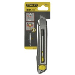 Cutter metalic INTERLOCK  la blister Stanley cu lama lunga 18mm
