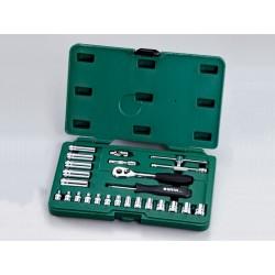 Trusa capete chei tubulare si accesorii 1/4&Prime , 25 piese, Sata 09001