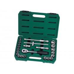Trusa capete chei tubulare si accesorii 1/2&Prime , 24 piese, Sata 09060-6