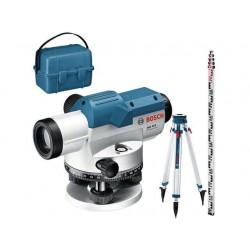 Set nivela optica cu stativ si mira Bosch GOL 26G + BT 160 + GR 500