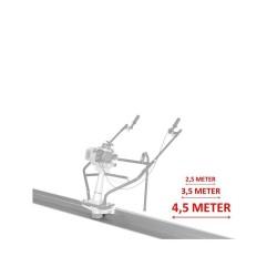 Rigla Lumag din aluminiu 2.5 m pentru RB-A