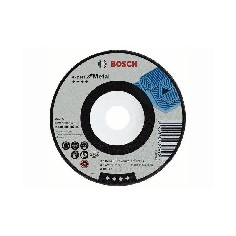 Disc de polizare metal Bosch 125x6x22,23 mm