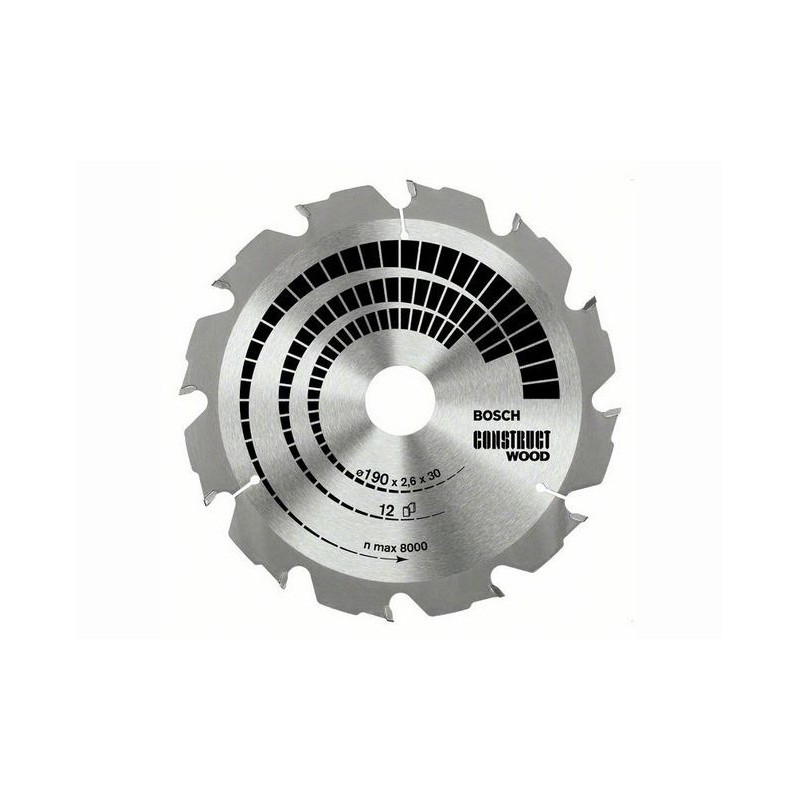 Panza de ferastrau circular Bosch Construct Wood 230x30,16/GKS 85