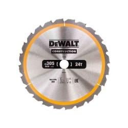 Panza de ferastrau circular Dewalt CONSTRUCTION 305x30,Z 24 DT1958-QZ