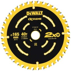 Panza de ferastrau circular Dewalt EXTREME 165x20,Z 40 DT10640-QZ