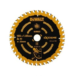 Panza de ferastrau circular Dewalt EXTREME 165x20,Z 40 DT10301-QZ