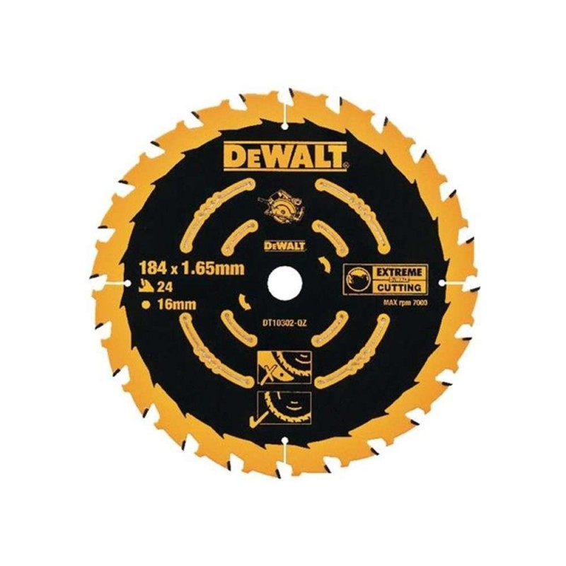 Panza de ferastrau circular Dewalt EXTREME 184x16,Z 24 DT10302-QZ