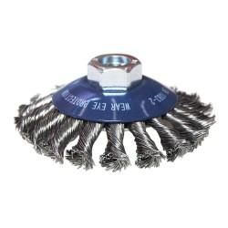 Perie de sarma radiala cu toroane 100x0,5mmxM14, metal, Weiler W386089