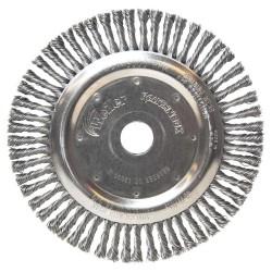 Perie de sarma disc cu toroane 115x0,5x22,2mm, inox, Weiler W386112