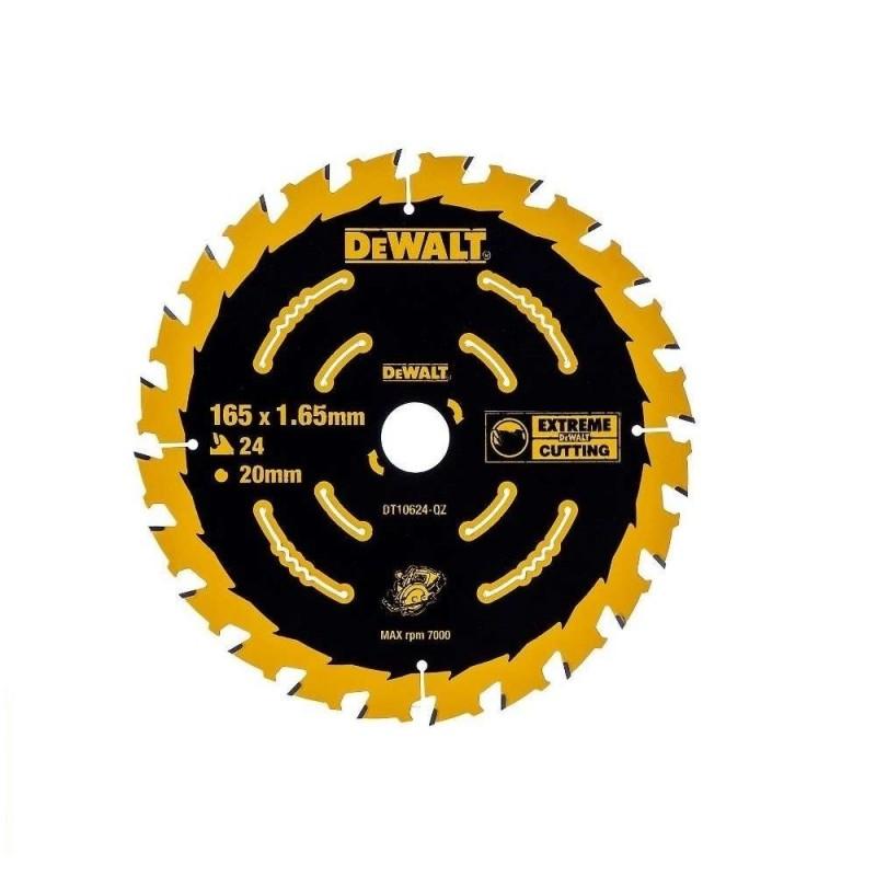 Panza de ferastrau circular Dewalt EXTREME 165x20,Z 24 DT10624-QZ