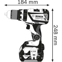 Masina de gaurit cu percutie Bosch compatibila cu acumulator 18V GSB 18V-60 C