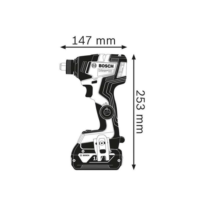 Masina de insurubat cu impact Bosch  compatibila cu acumulator GDX 180-200 C