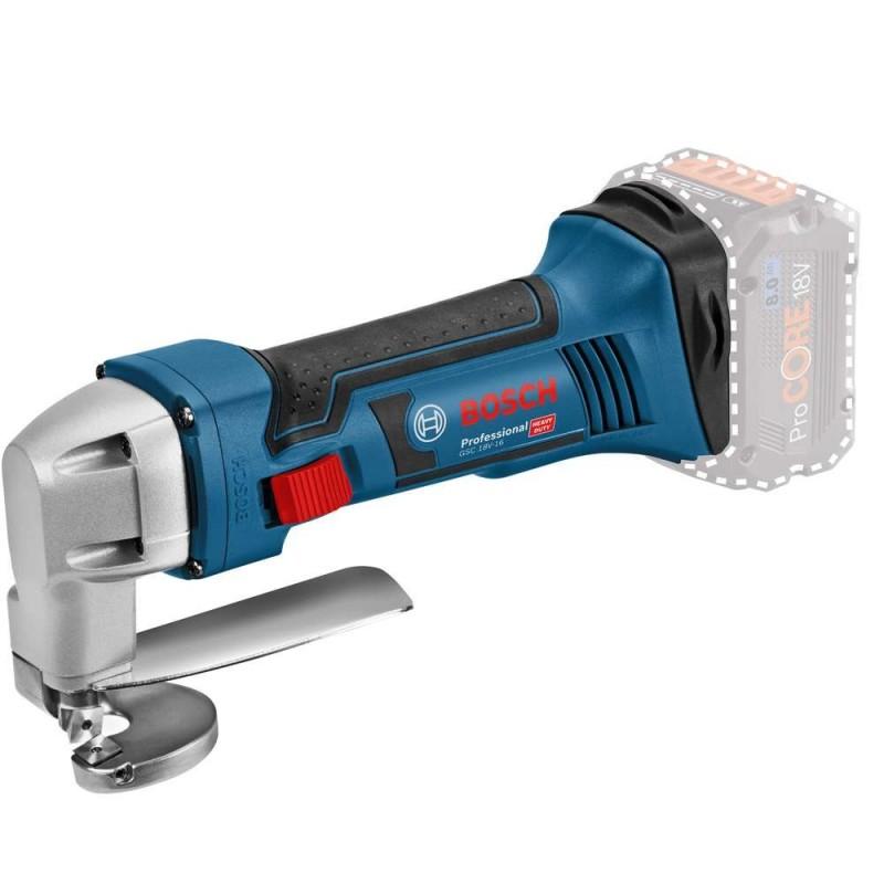 Masina de taiat tabla Bosch compatibila cu acumulatori 18 V GSC 18V-16