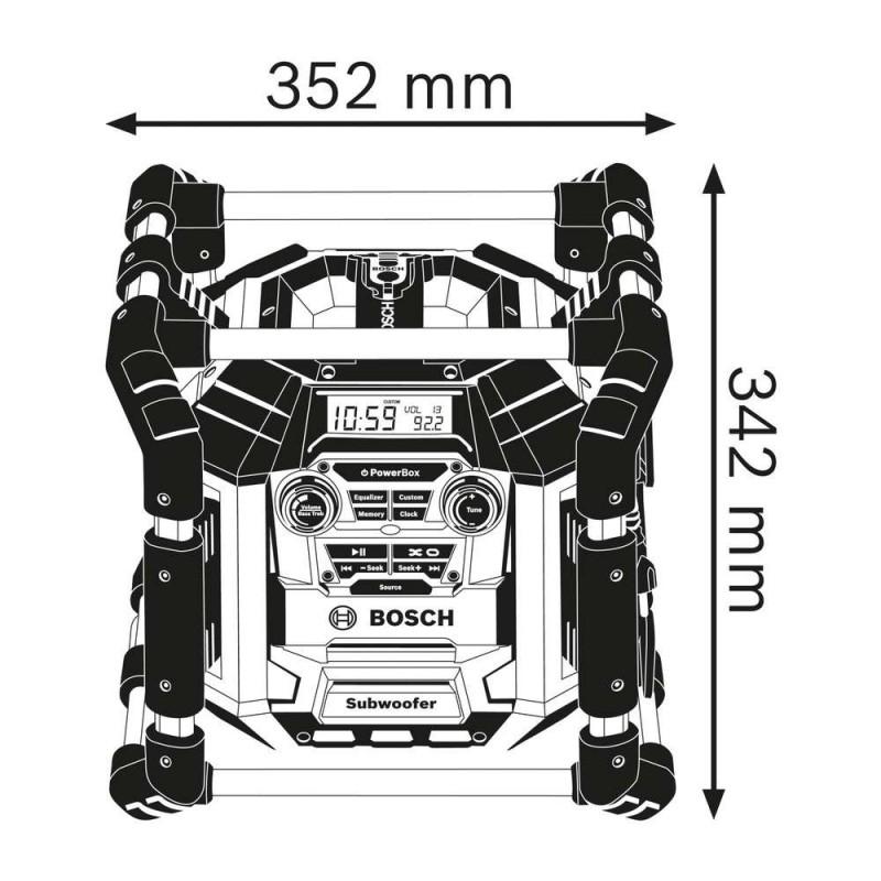 Radio de santier Bosch compatibil acum. Li-Ion 18V GML 50