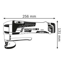 Masina de taiat tabla Bosch compatibila cu acumulatori 12V GSC 12V-13