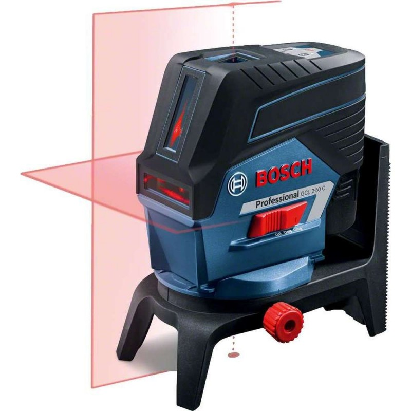 Nivela laser cu linii Bosch compatibila cu acumulator 12V GCL 2-50 C + RM 2