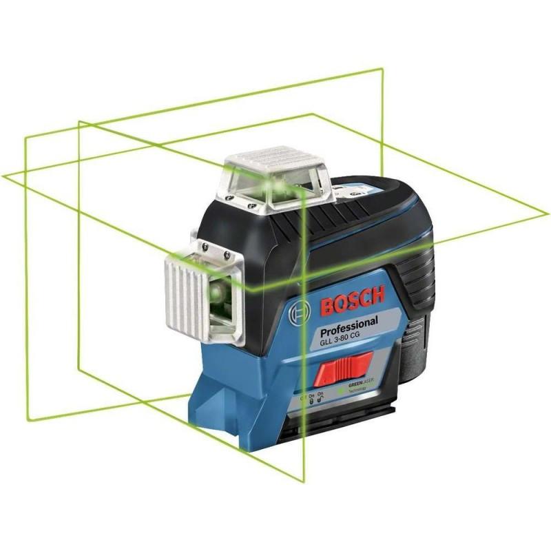 Nivela laser cu linii Bosch compatibila cu acumulator 12 V Li-Ion in L-BOXX GLL 3-80 CG