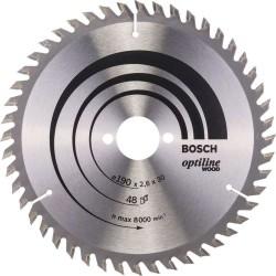 Panza de ferastrau circular Bosch Optiline Wood 190x30, 48 dinti