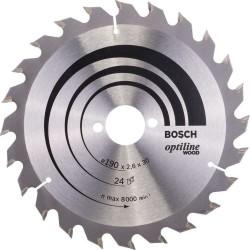 Panza de ferastrau circular Bosch Optiline Wood 190x30,24 dinti