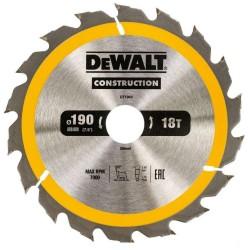 Panza de ferastrau circular Dewalt CONSTRUCTION 190x30,Z 18