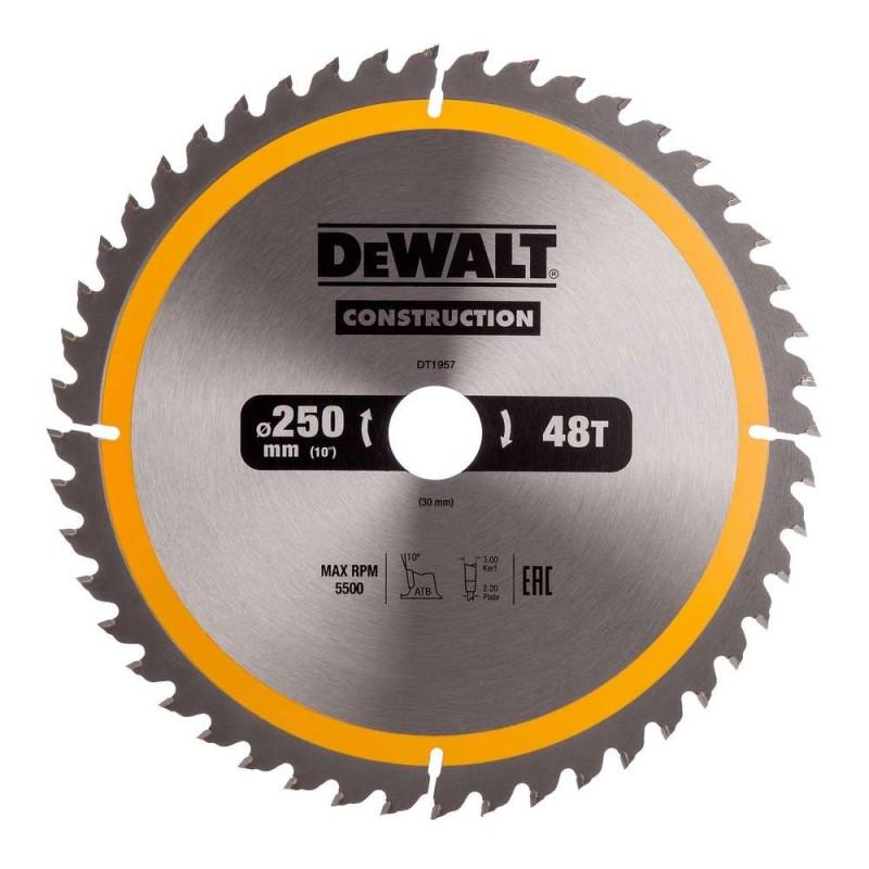 Panza de ferastrau circular Dewalt CONSTRUCTION 250x30,Z 48 DT1957