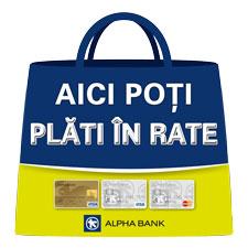 Plata în rate prin Alpha Bank